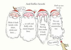 Drawing Father Christmas: How to Draw Father Christmas 8