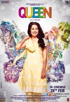 #bollywood #Movie #posters Kangana Ranaut in a Queen Movie Poster