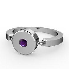 Ay Tanrıçası Yüzük - Ametist 925 ayar gümüş yüzük #1nodkw7