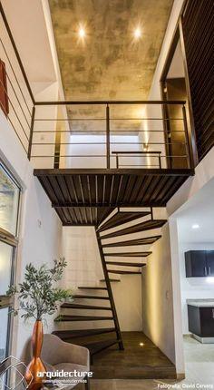 Escalera: Pasillo, hall y escaleras de estilo translation missing: mx.style.pasillo-hall-y-escaleras.minimalista por Grupo Arquidecture