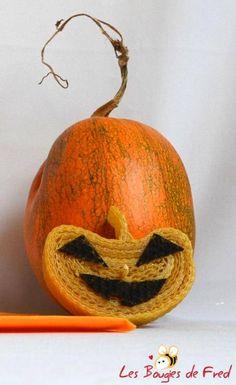 bougie halloween citrouille cire d'abeille - bougies et bougeoir - les bougies de fred - Fait Maison