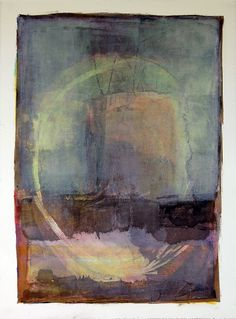 Residual -Karen Darling. Oil and cold wax on paper #encaustics