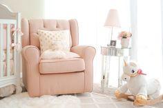 Blogger Katelyn Jones A Touch of Pink Nursery Unicorn Rocker Rockabye