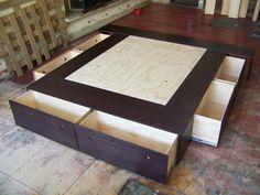 Bases para cama matrimoniales todos los tamaños minimalistas con cajones desarmables | Anunciosgratis.mx