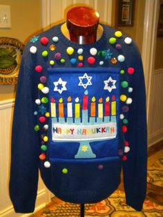 UGLY Tacky Amish Man's CHRISTMAS SWEATER LARGE VEST JEWISH ...