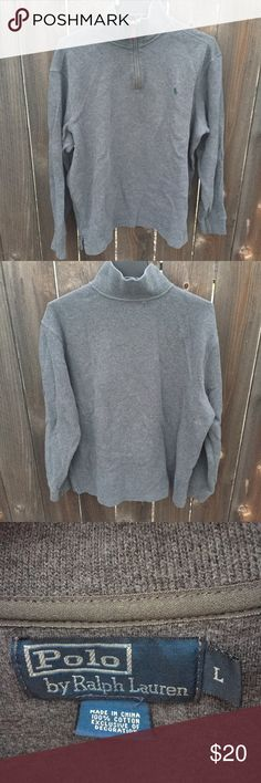"POLO RALPH LAUREN SZ L PULLOVER SWEATER MENS GREY POLO RALPH LAUREN  SZ LARGE  PULLOVER  ARMPIT TO ARMPIT 24""  FRONT LENGTH 27.5""  GOOD CONDITION Polo by Ralph Lauren Sweaters"