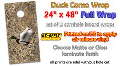 duck camo cornhole wrap decal