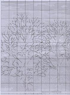 Схема вышивки Зимний закат (Anchor) 3 из 6