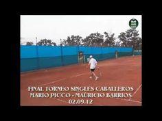 Últimos instantes de la Final del Torneo de Singles Caballeros disputada el 02.09.12 en Sociedad Sportiva Devoto entre Mario Picco y Mauricio Barrios.