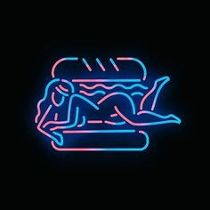 Naughty neons and dusky illustrations from New York creative Shawna X. (See…