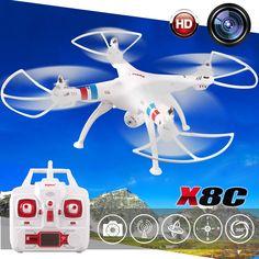 91.70$  Watch now - http://aliwsj.worldwells.pw/go.php?t=32662305836 - 50CM 2.4G Syma X8C RC drone quadcopter with HD FPV camera 4GB Memory card helicopter Remote control model VS SYMA X8G X8W MJX101