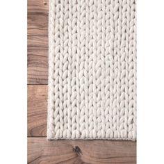 Zayan Meika Chunky Wool Cable Area Rug & Reviews | AllModern