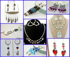 Just a few of the gorgeous handmade items available in seller's spotlight from artists Bridget Bolin (Rocker Rebel or Angel Designs), Debbie Seibert and Karen Orsini (Girl Cave Creations) in Heartfelt Handmade Auctions, tonight until 8pm EST.  Come in and join us for several GIVEAWAYS! https://www.facebook.com/groups/HeartfeltHandmadeAuctions/