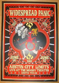 2011 Widespread Panic - Austin Concert Poster by Miller & Keener | JoJo's Posters