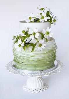 Indian Weddings Inspirations. Green Wedding Cake. Repinned by #indianweddingsmag indianweddingsmag.com #dogwood