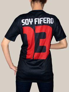 Uniforme futbol FIFA. Playera sublimada fútbol, en tela Dryfit, se sublima la prenda en blanco por cortes totalmente para obtener un fondo negro.