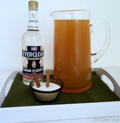 This, my friends, is the PERFECT drink for Fall! It combines sweet apples, spicy cinnamon, and a healthy dose of Everclear alcoho. Summer Drinks, Fun Drinks, Beverages, Everclear Drinks, Apple Pie Drink, Getting Drunk, Adults Only, Happy Hour, Alcohol