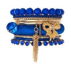 blue and gold bangles...