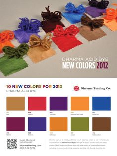 Check out our new Dharma Acid dye colors for 2012!