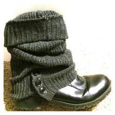 Boot covers Perfect condition never worn. Grey fits any boots both short and tall Shoes Ankle Boots & Booties