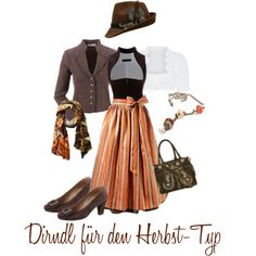 Dirndl für den Herbst-Typ by trachtenbibel on Polyvore featuring Mode, Sportalm and Andrea Conti