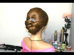 M Bridal updo. Wedding prom hairstyles. Прическа на выпускной, свадебная прическа.
