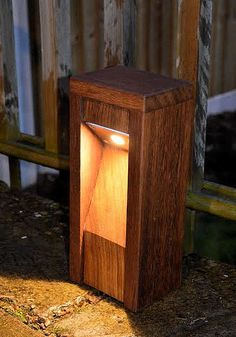 CITY LED Wooden Bollard light - Residential Outdoor Lighting - Commercial Exterior Lighting - Bespoke Outdoor Bollard Lighting