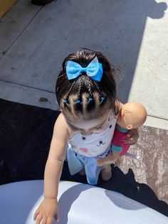 Toddler Hair Dos, Easy Toddler Hairstyles, Cute Hairstyles For Kids, Easy Little Girl Hairstyles, Baby Girl Hairstyles, Girl Hair Dos, Kind Mode, Hair Styles, Wacky Hair