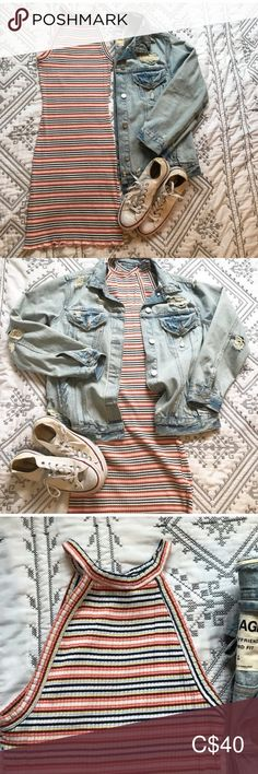 ✨Denim Jacket Super cute and very comfortable. All holes and distress are part of the design Perfect oversized jacket! Dress is sold⭐️ Garage Jackets & Coats Jean Jackets Denim Jacket Outfit Summer, Oversized Denim Jacket Outfit, Summer Dress Outfits, Jacket Dress, Fashion 2020, Plus Fashion, Fashion Trends, Jackets For Women, Clothes For Women