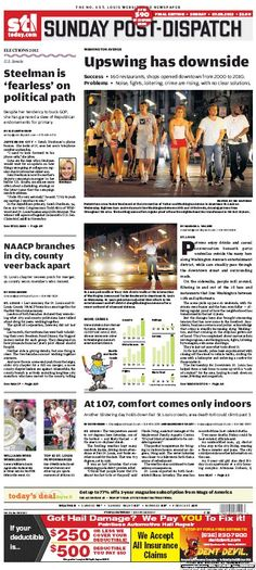 St. Louis Post-Dispatch July 8, 2012  #STL #newspapers