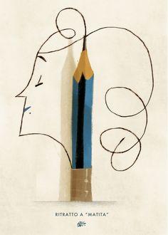 """""""Ritratto a matita"""" - (""""Pencil portait"""")Personal Work - Riccardo Guasco 2015"""