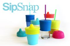 Make your very own drinking cups tot-friendly and spill-proof with the snap of a BPA- and Phthalate-free lid.
