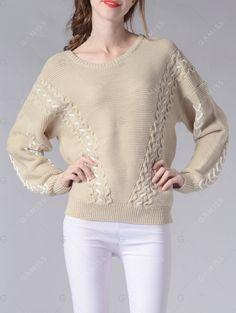 1f6cdf221a 2017 Hot Fashion Tops Women Short Pullovers Sweater Coat O-neck Knitted  Shirt Large Size Long-sleeved Cross Design Sweater Coats