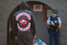 Biker Clubs, Motorcycle Clubs, Head Hunter, Red And White, Black, Bikers, Hunters, New Zealand, Arms