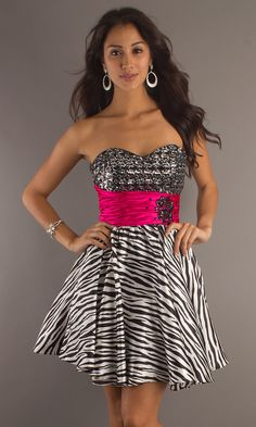 3d31349702 Pink + zebra    ) Animal Print Short Dresses