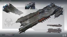 ArtStation - Capital Ships, Tobias Frank