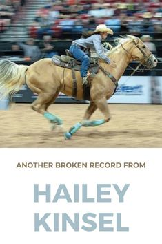 dd another one to Hailey Kinsel's list of record-setting runs! She just unofficially ran the fastest time EVER on a standard pattern at a WPRA rodeo. Horse Love, Horse Girl, National Finals Rodeo, Hay Day, Fast Times, All The Pretty Horses, Barrel Racing, Just Run