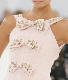 Adorable bows.  Chanel pink...
