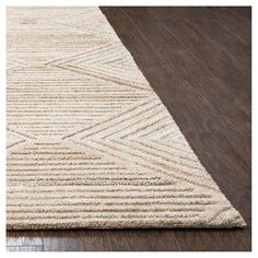 Geometric/Solid Rug - Tan - (10'X13') - Rizzy Home, Durable