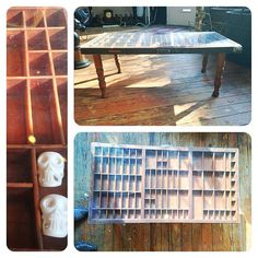 Make a letterpress drawer into a table