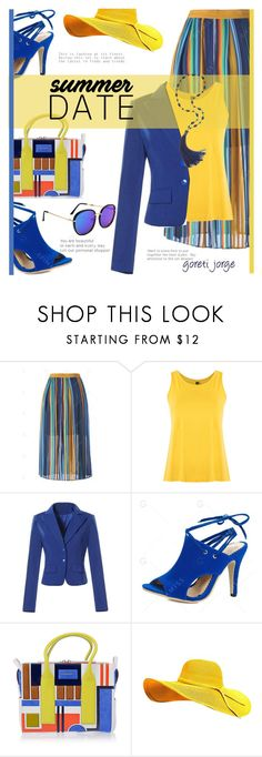 """""""Smokin' Hot: Summer Date Night - Gamiss;"""" by goreti ❤ liked on Polyvore featuring Lygia & Nanny and Dsquared2"""