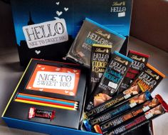LINDT HELLO HAMPER K Names, Chocolate Hampers, Lindt Chocolate, Say Hello, Giveaway, Cool Stuff, Sayings, My Love, Gray