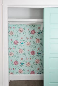 Looking for baby room inspiration? Tour this cute mint and pink nursery full of DIY projects, decor ideas, and budget-friendly sources! Master Bedroom Closet, Girls Bedroom, Bedroom Decor, Bedroom Ideas, Nursery Ideas, Bedrooms, Wall Decor, Cheap Closet, Kid Closet
