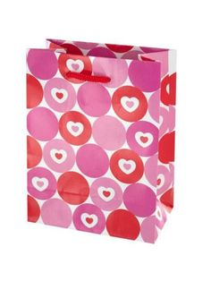 Hearts & Dots Valentine Gift Bag (Available in a pack of 48)