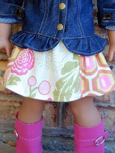 Dream. Dress. Play.: Scrap Saver 18 Doll Skirt: FREE Pattern