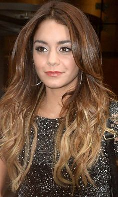 Vanessa Hudgens - ombre hair with light honey highlights - long hair