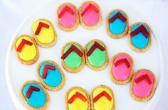 Summer flip flop snacks