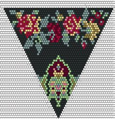 Brick stitch triangle pattern