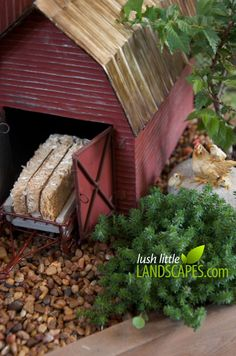 Gorgeous Fairy Garden / Miniature Garden Farm Preview with a Barn, Silo, Water Tower, Windmill, Chickens, Cattle, Farm Stand, Pasture, Field, Tractor | Lush Little Landscapes