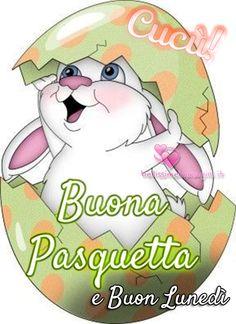 Buongiorno Buona Pasquetta immagini nuove - BellissimeImmagini.it Italian Memes, Christmas Fun, Holiday, Emoticon, Vintage Cards, Smurfs, Good Morning, Pikachu, Diy And Crafts